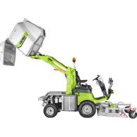Kosiarka komunalna FD 2200 4WD - hydrauliczne opróżnianie kosza na wys. 220 cm