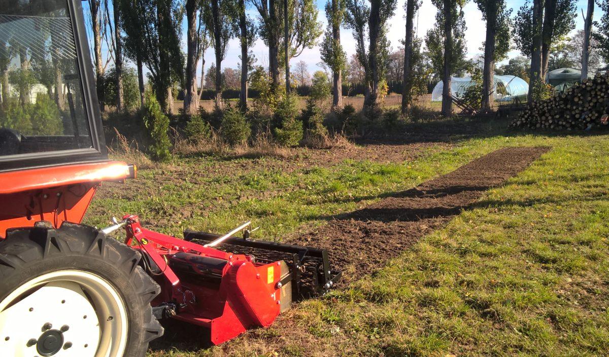 Glebogryzarka separacyjna TST dla traktora ogrodniczego