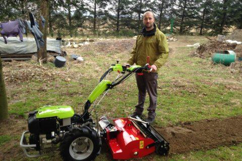 Zestaw do zakładania ogrodów: Grillo G 110 + glebogryzarka separacyjna Condor w firmie ogrodniczej IRYS