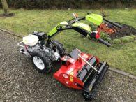 Traktorek jednoosiowy G 110 z separatorem kamieni firmy R2 - idealny zestaw do zakładania ogrodów
