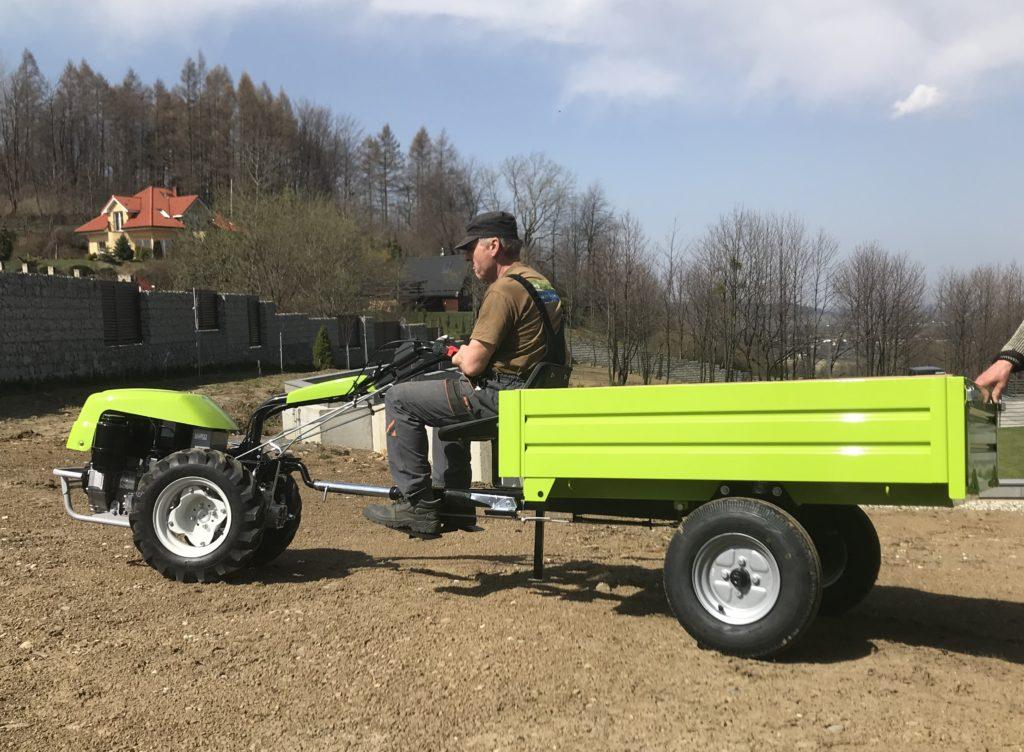 Grillo G 131 z przyczepą transportową (do 400 kg)